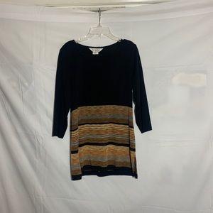Misook 3/4 sleeve tunic top
